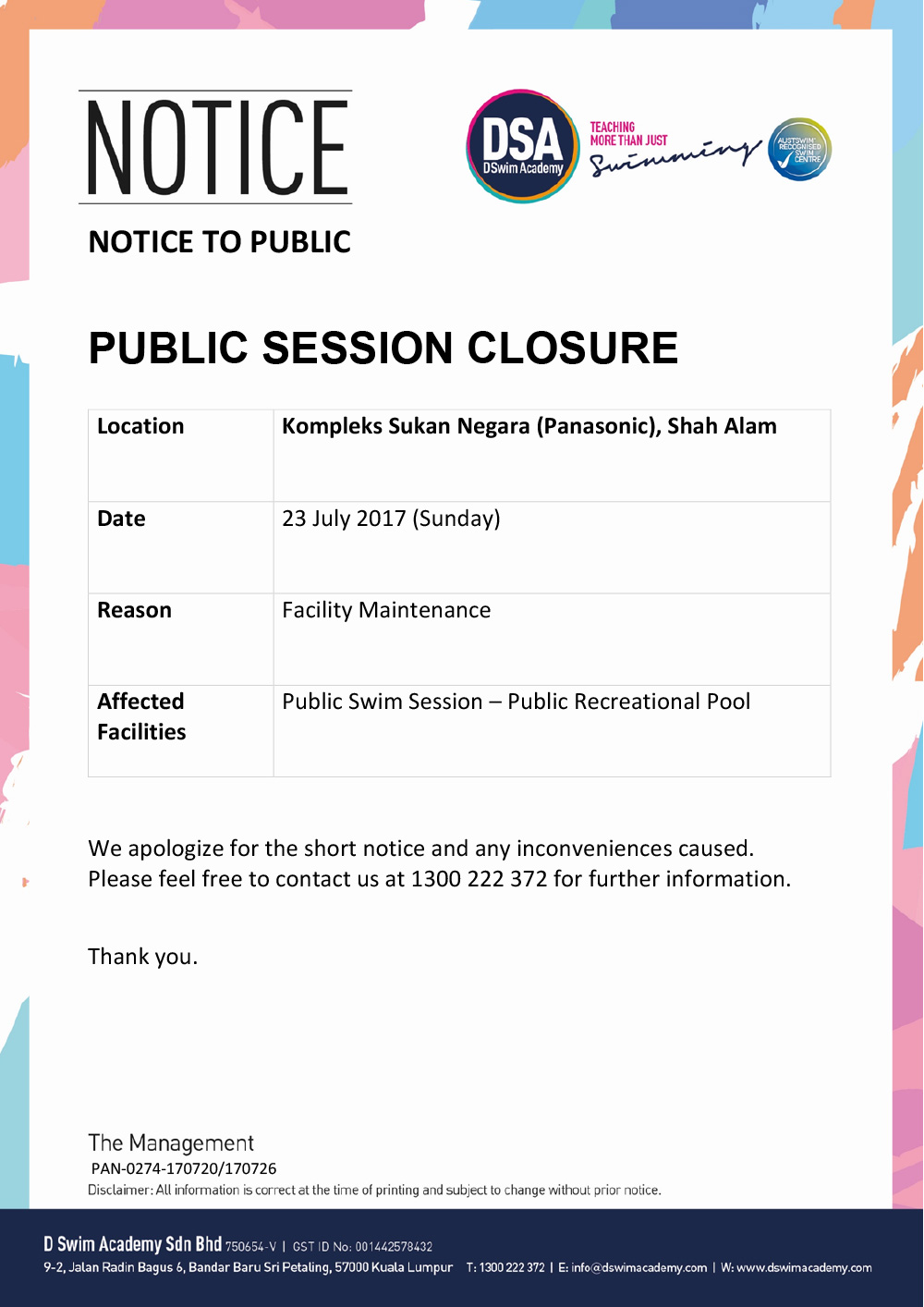 Pana-Public-Closure