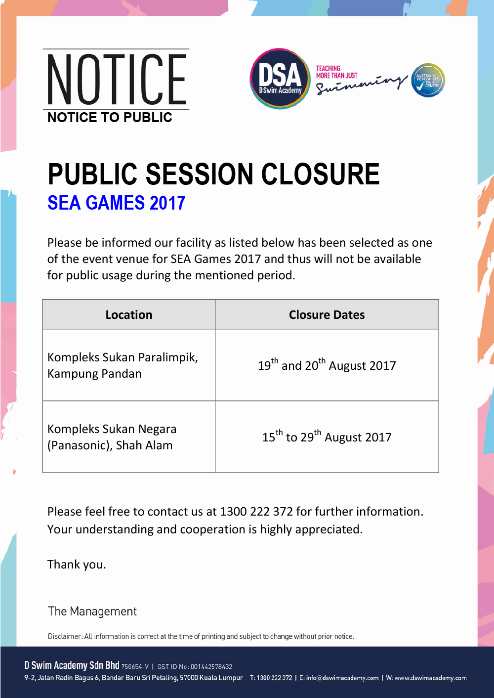 Public-Closure-Summary-SEA2017