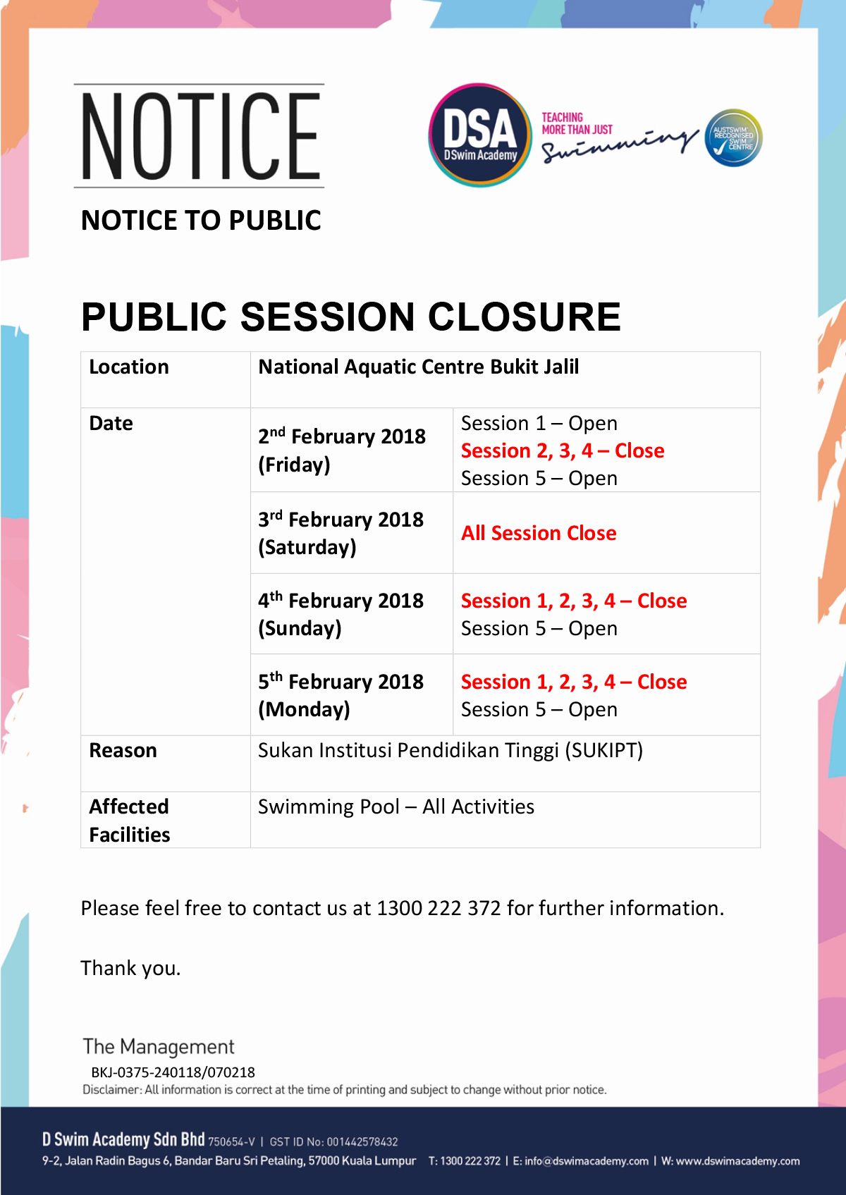 Public-Closure-FEB-SUKIPT