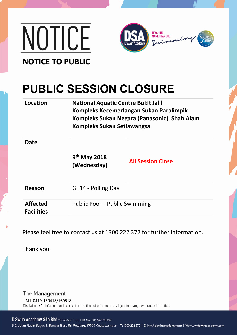 Public-Closure-May-Polling-Day