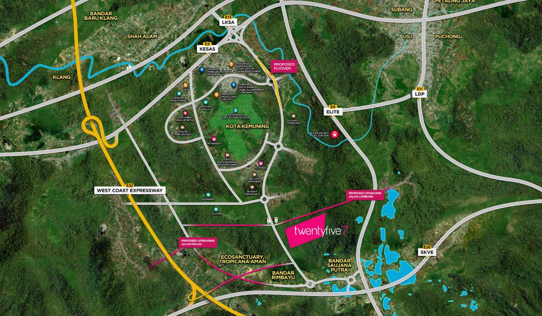 DSA Kota Kemuning-map