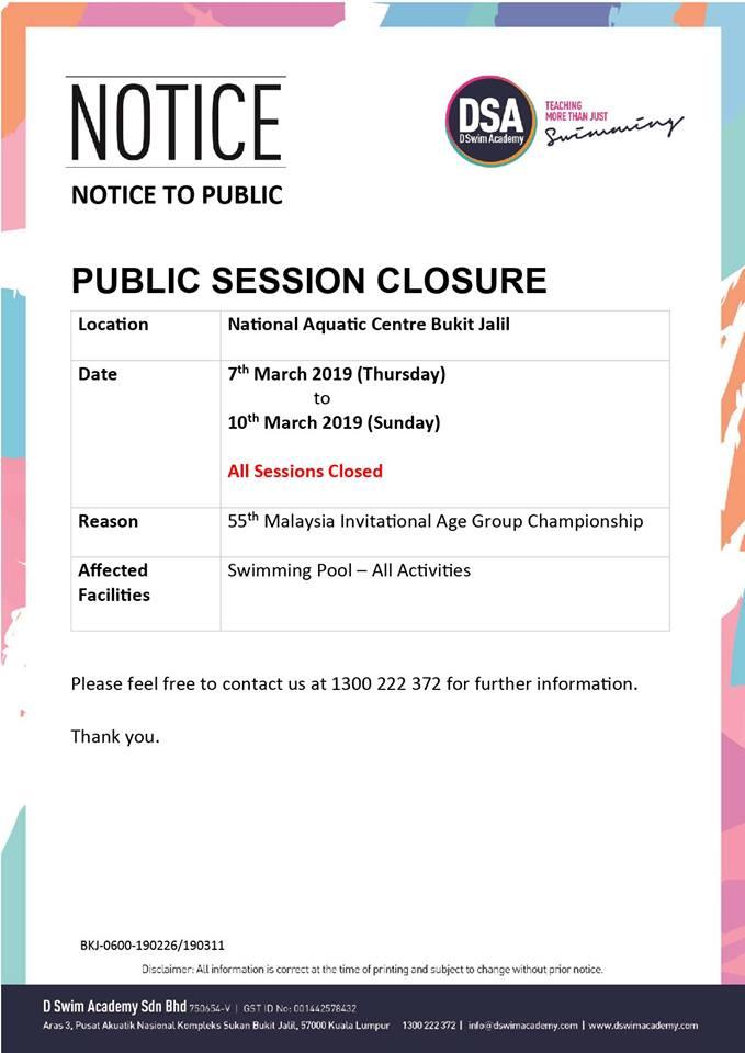 Public Session Closure