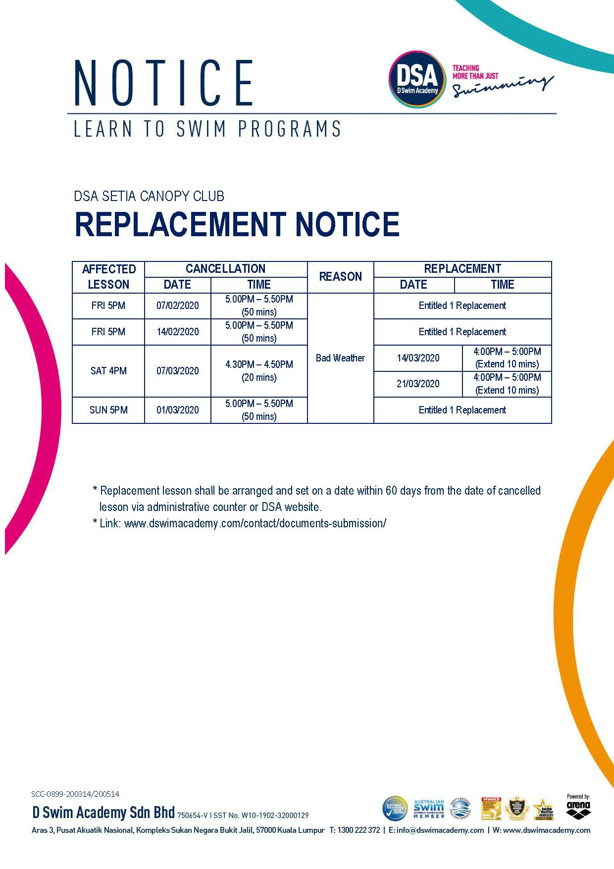 Replacement-Class-Notice